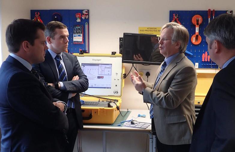 Robert Jenrick with Copernicus Technology management