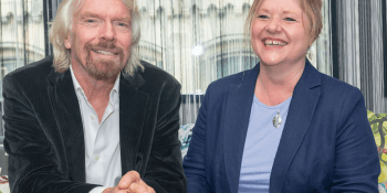 Sir Richard Branson and Jackie Waring