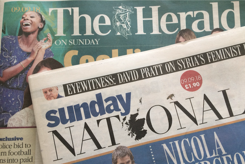 Sunday National and Herald on Sunday - first copies