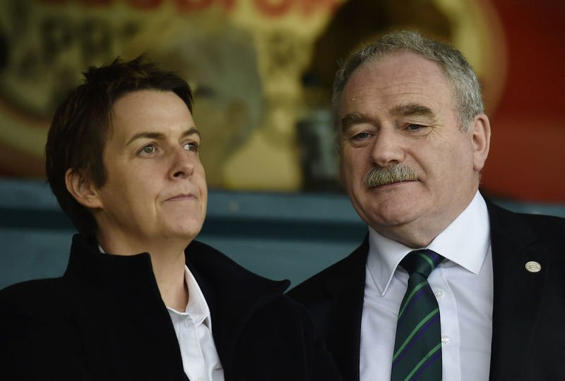 Leanne Dempster and Rod Petrie have overseen a positive year of financial results for Hibs
