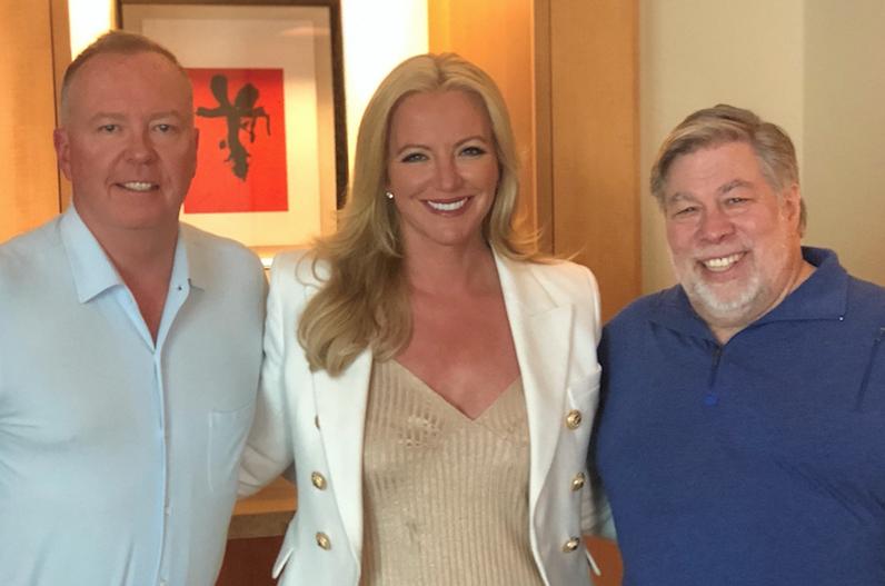 Doug Barrowman, Michelle Mone,Steve Wozniak pic EquiGlobal
