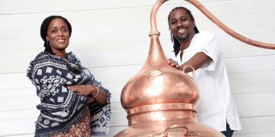 Matugga Distillery, Jacine & Paul Rutasikwa at rum distillery