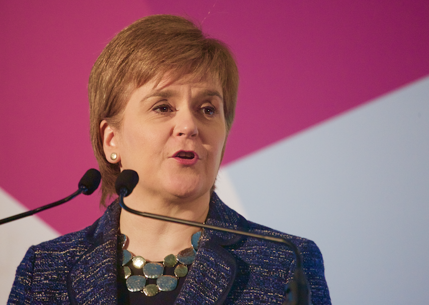Nicola Sturgeon speaking