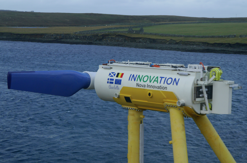 Nova Innovation tidal power in Shetland