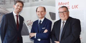 Paul Lewis, managing director, Scottish Development International; Carlos de Palacio, President of Talgo; Jon Veitch, UK director