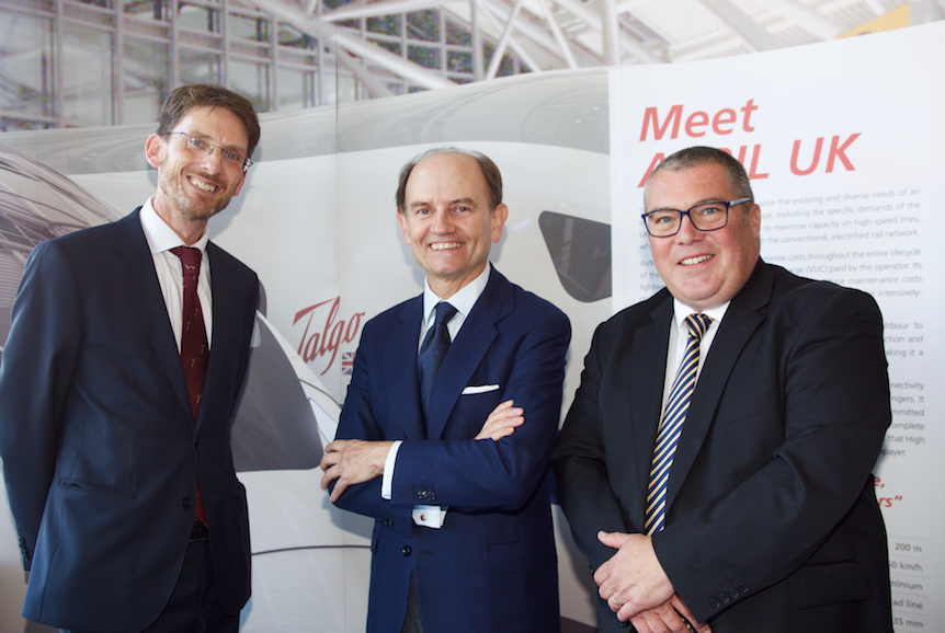 Paul Lewis, managing director, Scottish Development International; Carlos de Palacio, President of Talgo; Jon Veitch, UK director