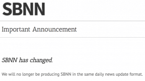 SBNN announcement