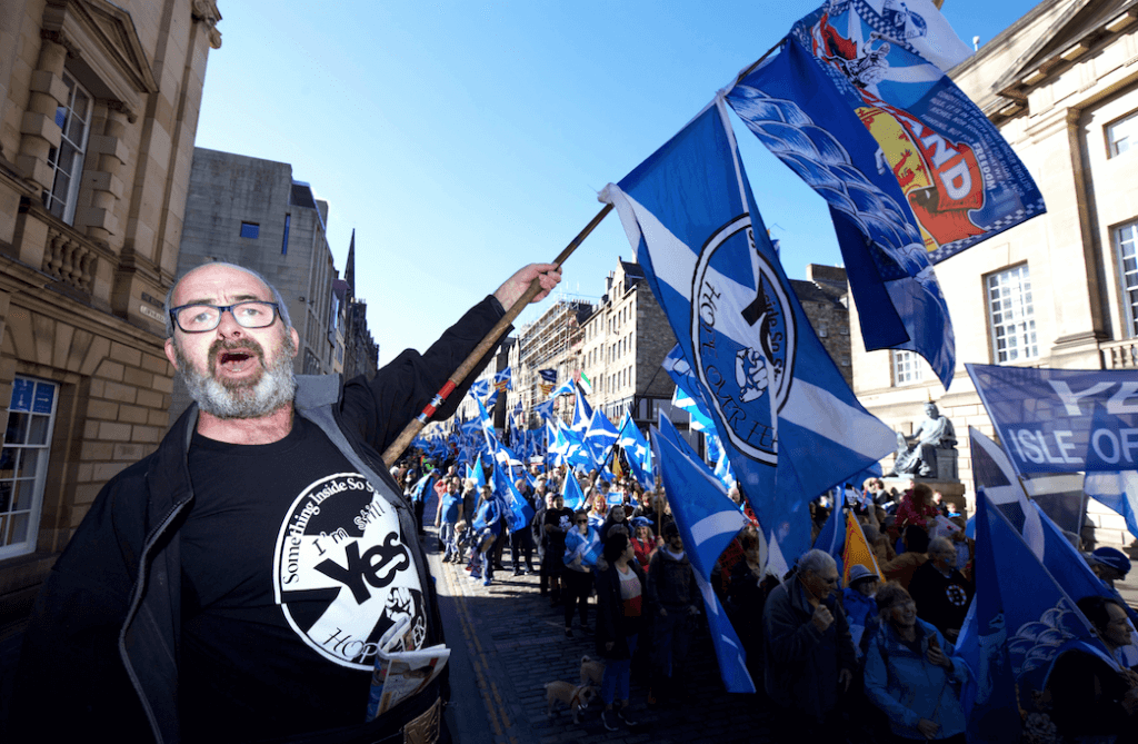 Scottish independence march in Edinburgh