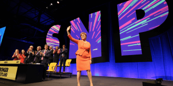 Sturgeon acknowledging conference