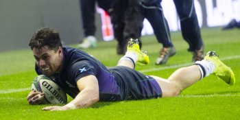 Sean Maitland scored Scotland's only try of the match against Argentina