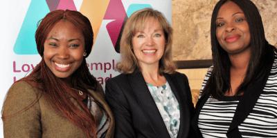 AAI CEO Joy Lewis with Anwulika Umeh & Meg Kester from nneoma womens group