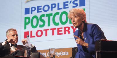 Emma Thompson postcode lottery