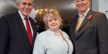 Gordon Brown Prof Heather McGregor Lord Vallance of Tummel