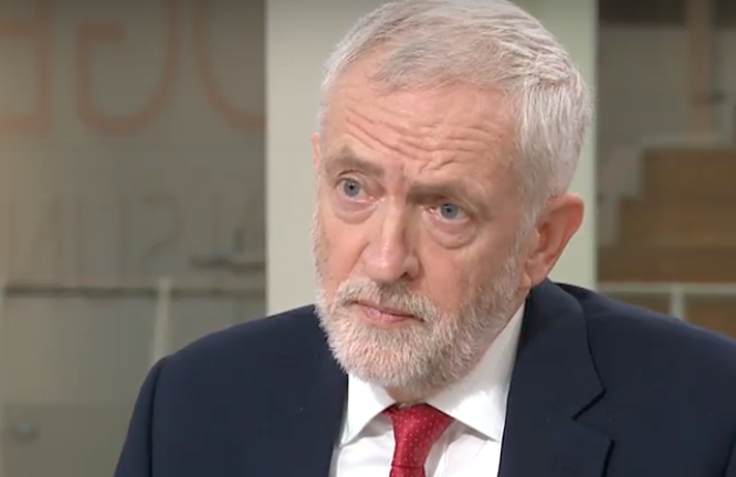 Jeremy Corbyn on Sky News