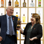 Sir Vince Cable and Christine Jardine at Diageo