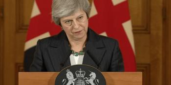 Theresa May after Brexit debate