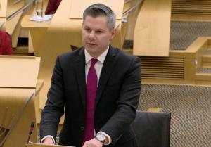 Derek Mackay delivers budget 12 Dec