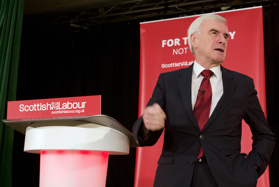 John McDonnell in Airdrie