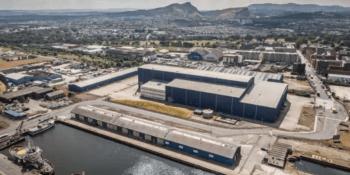Pelamis warehouse Leith