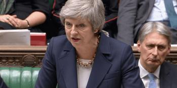 Theresa May at Brexit debate