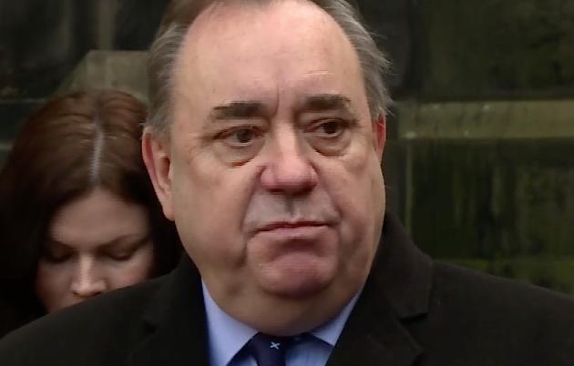 Alex Salmond outside court
