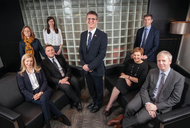 Glasgow Chamber Back Row: Lesley Thomson, Amanda Taylor, Jim McHarg, Lindsay McGarvie. Seated: Carol Henry, Derek Provan, Rhona Baillie, Craig Pollock