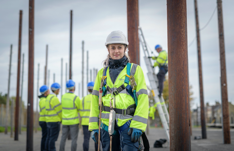 Female engineer openreach apprentices