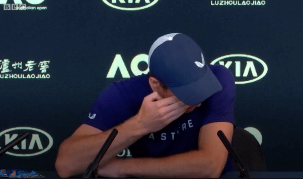 Heartbroken Andy Murray