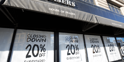 House of Fraser closing down