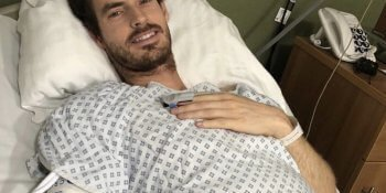Andy Murray posted a photo of him recovering after his op on social media