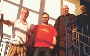 Irvine Strang, Euan Brunton, Dave Bruce and John Lithgow