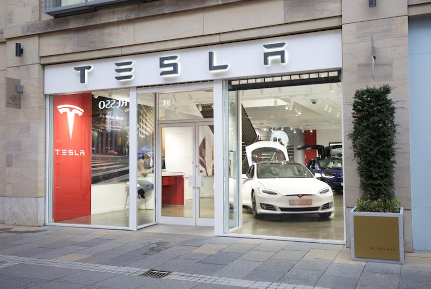 Magasin Tesla à Édimbourg