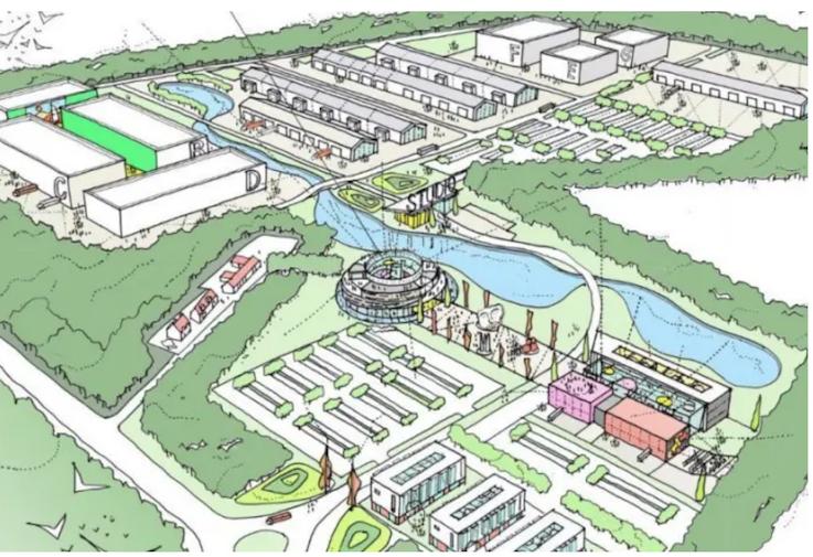 film studio plan for Dalkeith: Keppie Architects