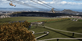 zip wire at ski slope