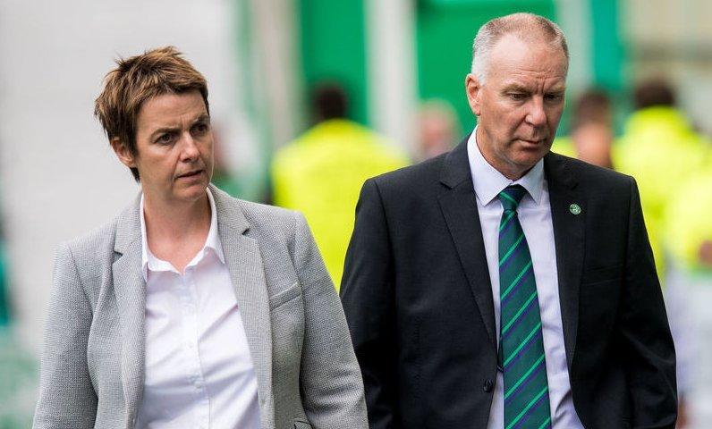 Leeann Dempster and Hibs director of football George Craig