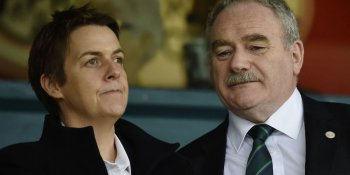 Hibs chief executive Leeann Dempster and chairman Rod Petrie