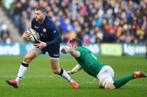 Finn Russell, disappointed with Ireland defeat