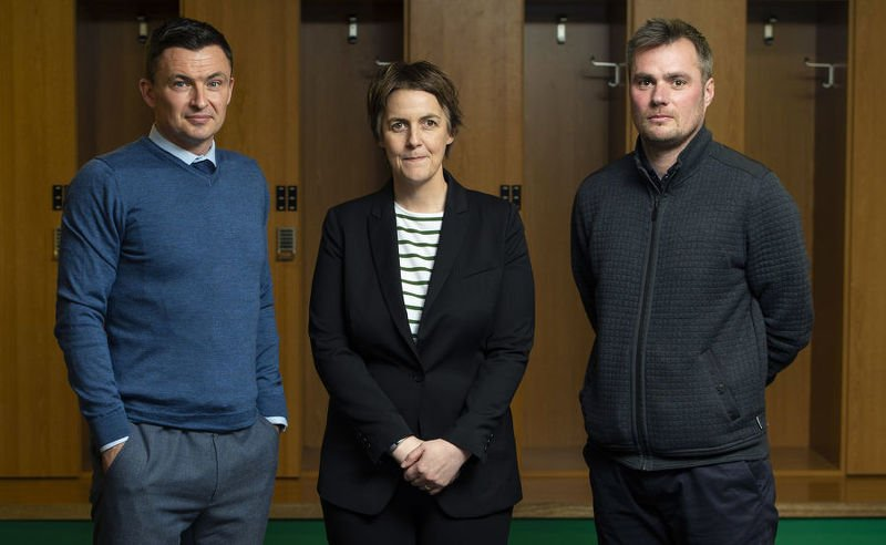 Paul Heckingbottom, Leeann Dempster and No. 2 Robbie Stockdale