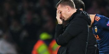 Brendan Rodgers shows his frustration as Valencia dominate Celtic
