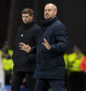Steve Clarke wasn't happy with sectarian abuse aimed at himby Rangers fans