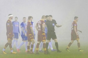 Kilmarnock's game against Motherwell was abandoned due to fog