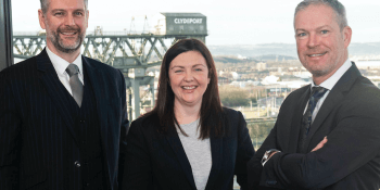 Graeme Finnie, managing partner French Duncan, with audit partners Nicola MacLennan and Stephen Hughes
