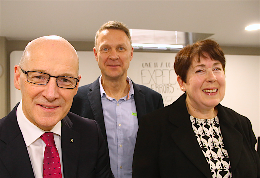 John Swinney, Harvey Wheaton, Polly Purvis