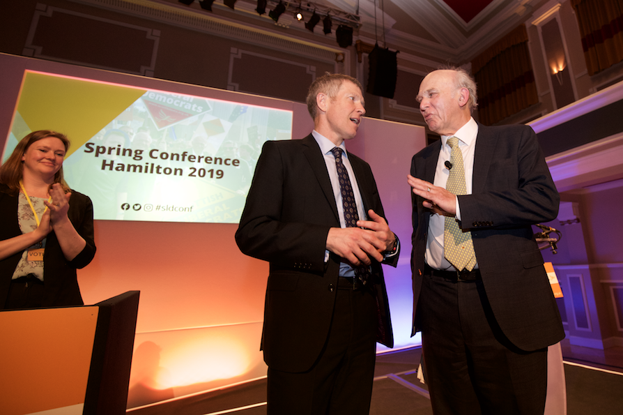 Willie Rennie and Vince Cable