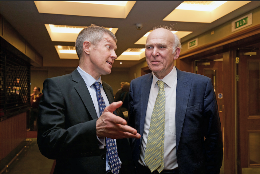 Willie Rennie and Vince Cable in Hamilton