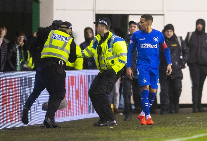 Police take action after fan confronts James Tavernier at Easter Road