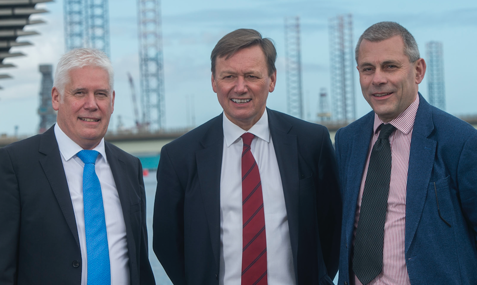 Callum Falconer, CEO of Dundeecom; Charles Hammond, Group CEO of Forth Ports; Bill Cattanach, Head of Supply Chain of Oil and Gas Authority