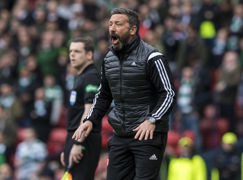 Derek McInnes, sent off against Celtic