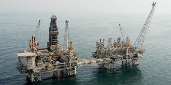 BP operated Central Azeri Platform in the Azerbaijan sector of the Caspian Sea (courtesy of BP)