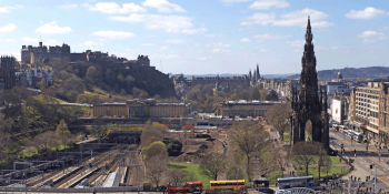 Edinburgh Castle and Princes Street